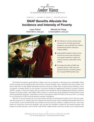 SNAP Benefits Alleviate the Intensity and Incidence of Poverty ...