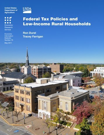 Federal Tax Policies and Low-Income Rural Households - Economic ...