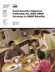 Food Security Improved Following the 2009 ARRA Increase in ...