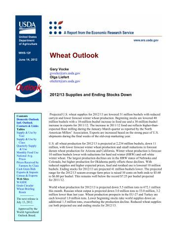 Wheat Outlook - Economic Research Service - US Department of ...