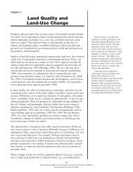 Environmental Effects of Agricultural Land-Use Change - Economic ...