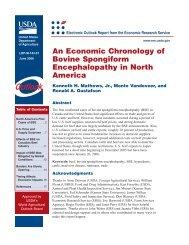 An Economic Chronology of Bovine Spongiform ... - Cornell University