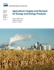 Agriculture's Supply and Demand for Energy and Energy Products