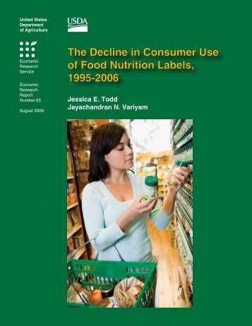 The Decline in Consumer Use of Food Nutrition Labels, 1995-2006