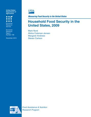 Household Food Security in the United States, 2009 - Economic ...