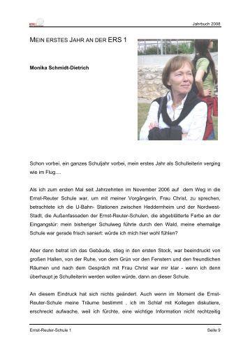 MEIN ERSTES JAHR AN DER ERS 1 - Ernst-Reuter-Schule 1