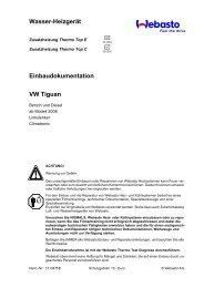 Wasser-Heizgerät Einbaudokumentation VW Tiguan - Ersatzteilbox