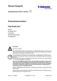 Wasser-Heizgerät Einbaudokumentation Fiat Punto Evo - Ersatzteilbox