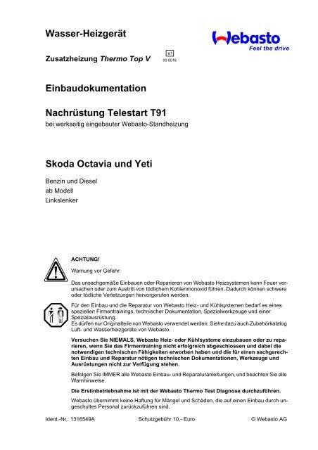 Skoda Octavia und Yeti - Ersatzteilbox