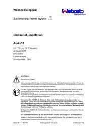Wasser-Heizgerät Einbaudokumentation Audi Q3 - Ersatzteilbox