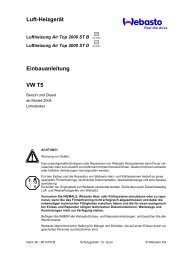Luft-Heizgerät Einbauanleitung VW T5 - Ersatzteilbox