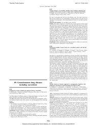 89. Granulomatous lung diseases including sarcoidosis 84s