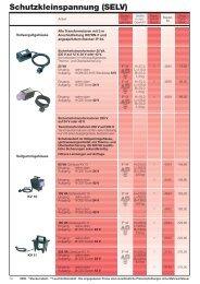 Schutzkleinspannungs- (SELV) und Ex-Leuchten ... - ERSO-indulux