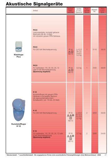 Signalgeräte - ERSO-indulux