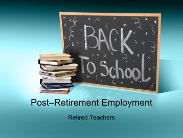 Post–Retirement Employment - Employees' Retirement System of ...