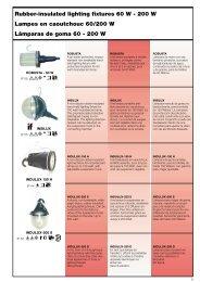 Lámparas de goma - ERSO-indulux