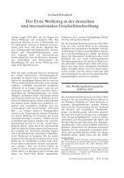 Der Erste Weltkrieg in der deutschen und internationalen ...