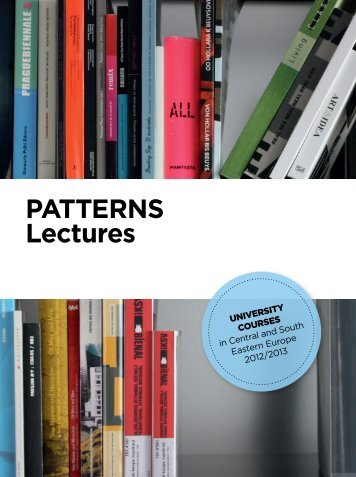 PATTERNS Lectures Booklet 2012/2013 - ERSTE Stiftung