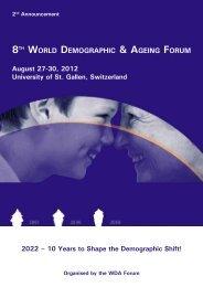 8TH WORLD DEMOGRAPHIC & AGEING FORUM - IAGG
