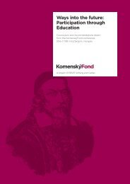 Ways into the future: Participation through Education - ERSTE Stiftung