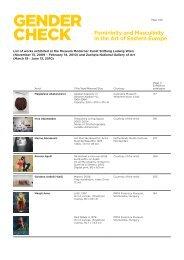 Gender-Check_list-of-works-1 - ERSTE Stiftung