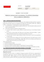 Bando di concorso per la concessione di contributi ... - ERSU Urbino