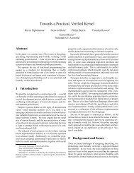 Towards a Practical, Verified Kernel - ERTOS - NICTA