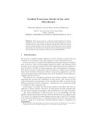 Verified Protection Model of the seL4 Microkernel - ERTOS - nicta