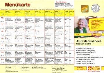Speiseplan KW 42 bis 47 - Asb-Ludwigsburg