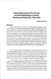 Classically Inspired: The Poetics of Greek Mythology in French ...