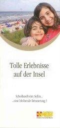 Flyer Schullandheim Sellin - ASB RV NORD-OST ev