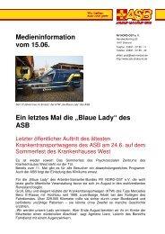 Blaue Lady - ASB RV NORD-OST ev