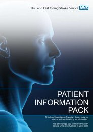 patient information pack - East Riding of Yorkshire Primary Care Trust