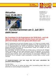 Aktuelles Vom 23.06.2011 47. Sundschwimmen am 2. Juli 2011 ...