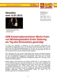 Infos dazu: HIER - ASB RV NORD-OST ev