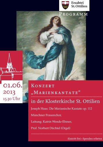 """Konzert """"Marienkantate"""" in der Klosterkirc - Erzabtei St. Ottilien"""
