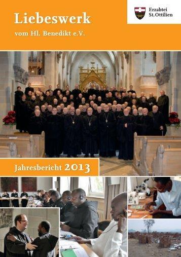 Jahresbericht 2013 - Erzabtei St. Ottilien