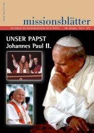 2011/2: Unser Papst Johannes Paul II. - Erzabtei St. Ottilien