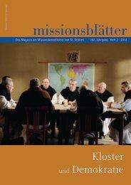 2012/2: Kloster und Demokratie - Erzabtei St. Ottilien