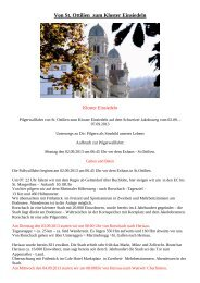 Von St Ottilien zum Kloster Einsiedeln - Erzabtei St. Ottilien