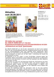Infos dazu hier! - ASB RV NORD-OST ev