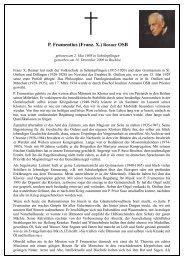 P. Frumentius (Franz. X.) Renner OSB - Erzabtei St. Ottilien
