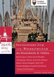 Festkonzert Zum 110. Weihejubiläum - Erzabtei St. Ottilien