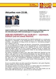 ASB-HELFERPARTY am 19.08.2011 - ASB RV NORD-OST ev