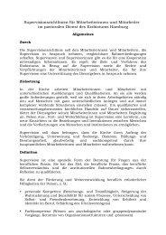 Supervisionsrichtlinien für Mitarbeiterinnen und Mitarbeiter