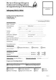 Bewerbungsbogen für Mecklenburg - Erzbistum Hamburg