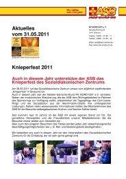 Knieperfest 2011 Auch in diesem Jahr ... - ASB RV NORD-OST ev