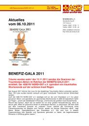 Aktuelles vom 06.10.2011 BENEFIZ-GALA 2011 - ASB RV NORD ...