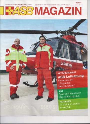 Bericht über den Intensivtransporthubschrauber des ASB Nürnberg im