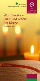 """Wort Gottes – """"Halt und Leben"""" der Kirche - Erzbistum Hamburg"""
